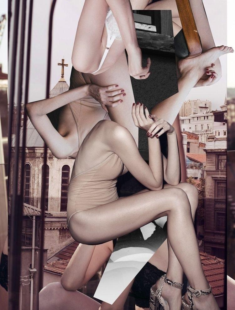 bodies // mixed media collage - collageart - magic_unicorn   ello