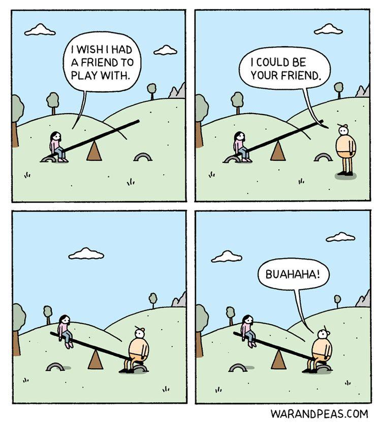 Seesaw  - comic, webcomic, warandpeas - warandpeas | ello