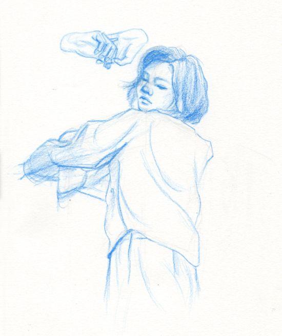 Doodle blue - doodle, drawing, sketch - j0eyg1rl | ello