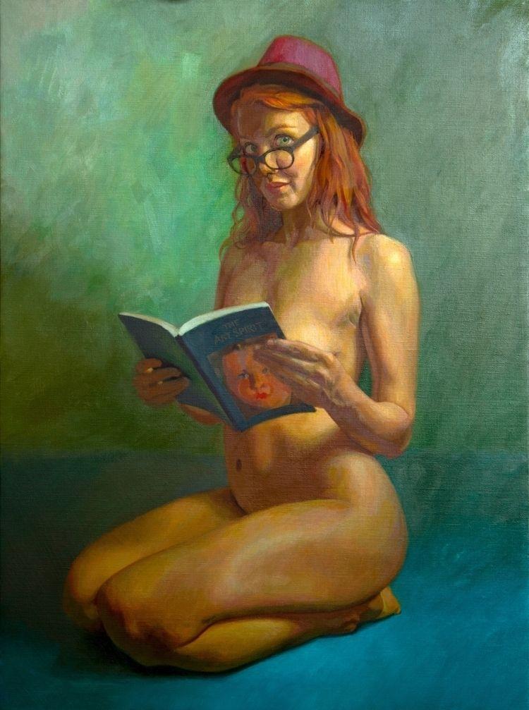 Art Spirit, Oil linen, 24 18 - figurativeart - mikebrewerart | ello