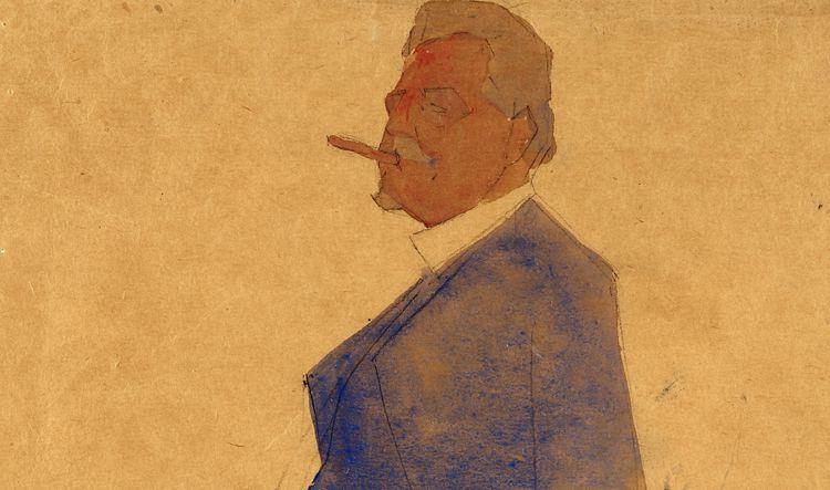 Egon Schiele \\\ Portrait Leopo - -ba | ello