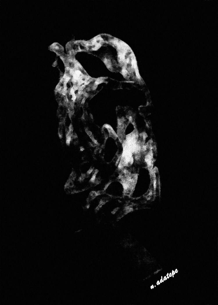 vulture - charcoal, art, digital - nadatepe | ello