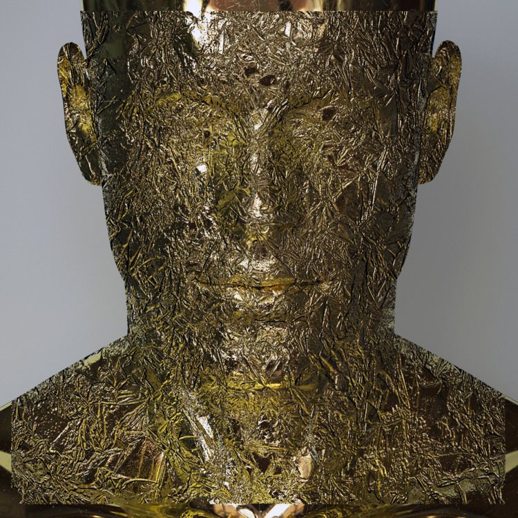 Meditation - gold, 3D, digital, sculpture - z3rogravity | ello