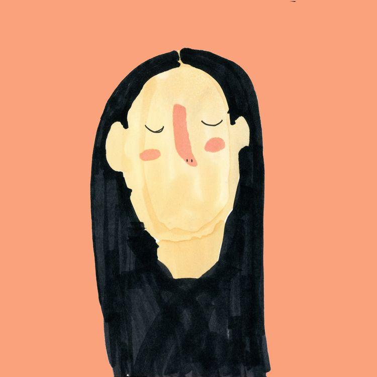 illustration, chartpak, selflove - whitelie___ | ello