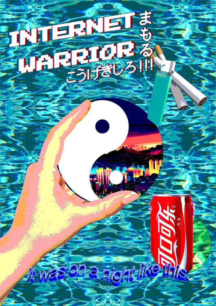 Internet Warrior. Vaporwave sty - samueljstroud | ello