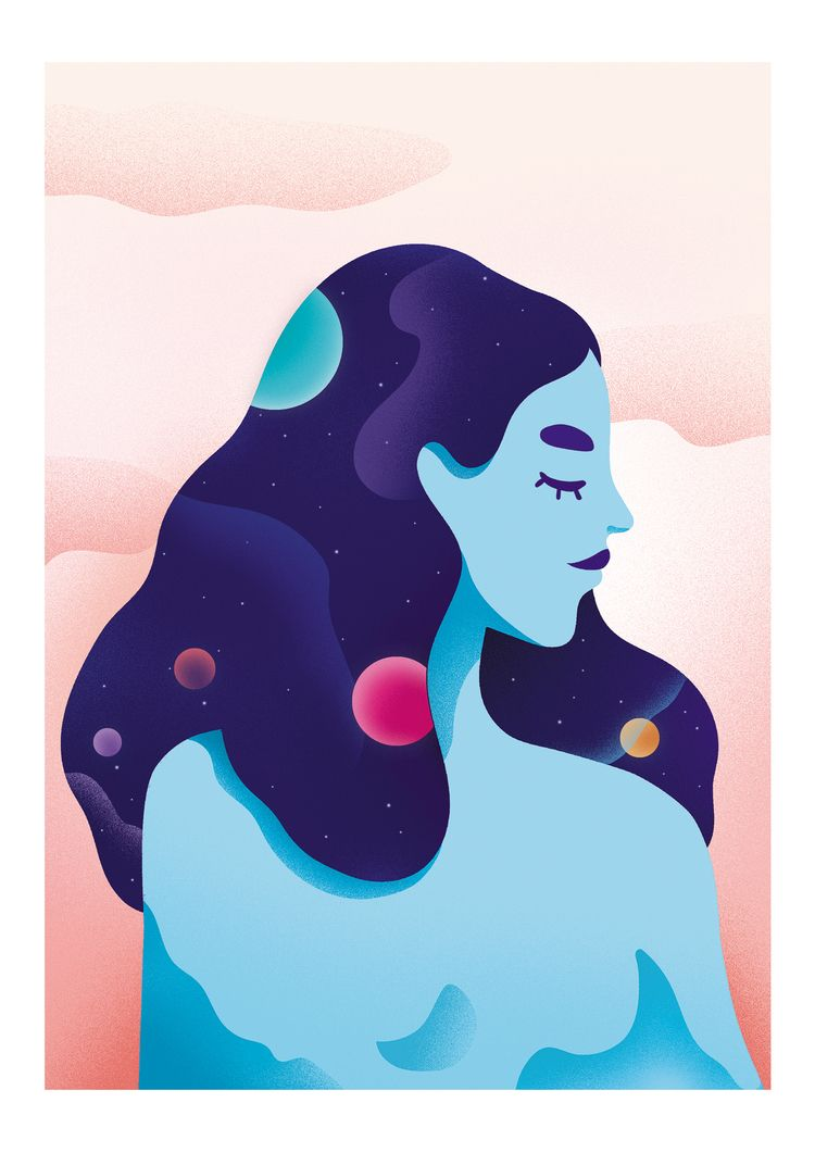 illustration, illustrator, cosmic - victoriaroussel | ello