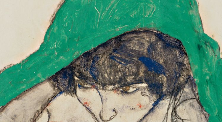 Egon Schiele \\\ Crouching Woma - -ba | ello