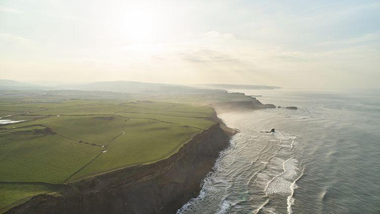 Flying Whitby Coastline - dji, drone - conorburrow   ello