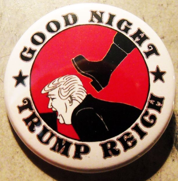 GOOD NIGHT TRUMP REICH pinback  - crizzlesbuttons | ello