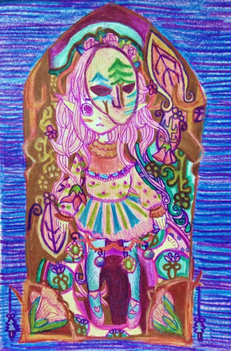 Ms paint - whimsical, springtime - purecharm5 | ello