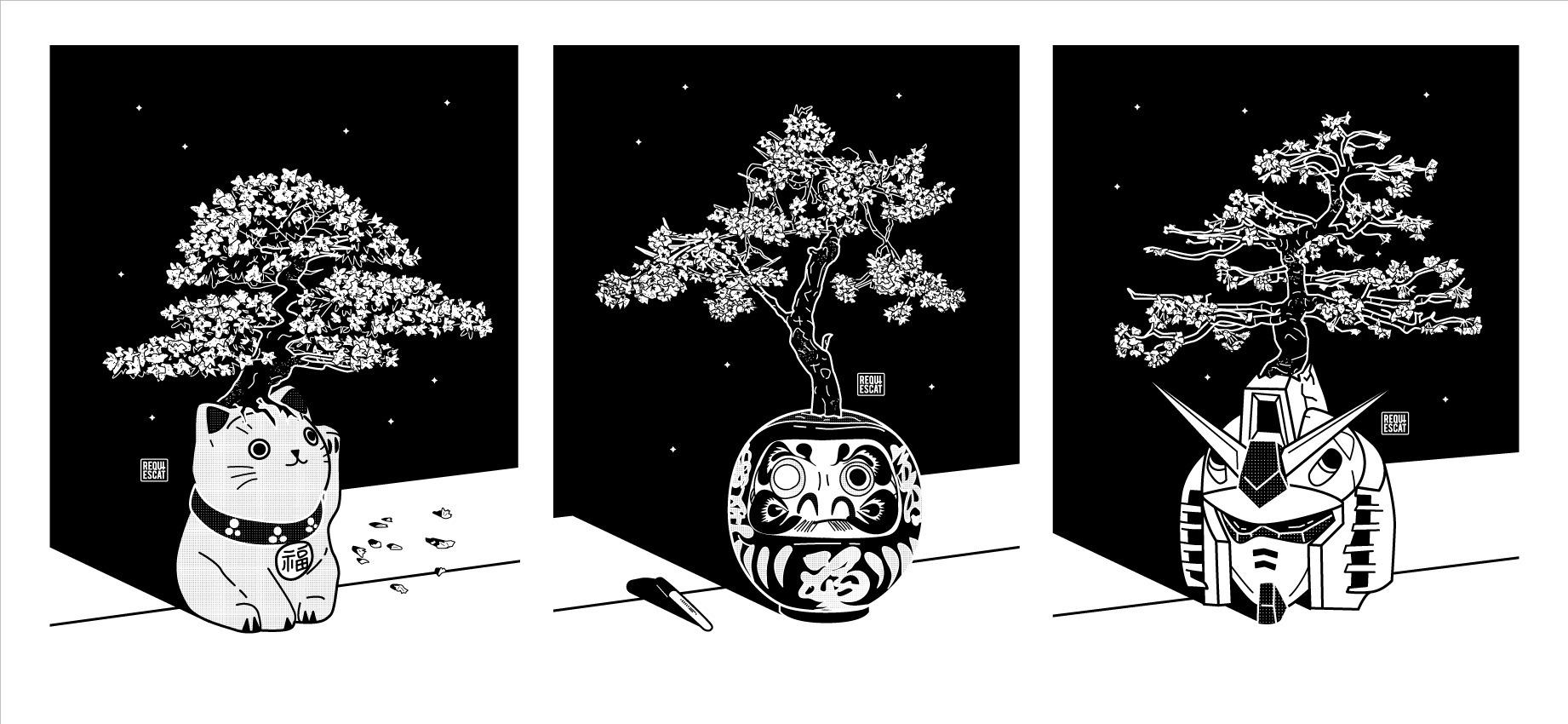Sakura Trees - Triptych - rqsct | ello