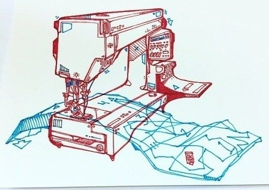 Sewing Machine Ink Sold - illustration - aaronkraten | ello