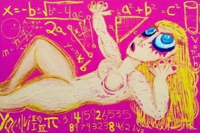 Math Nudes: Blonde Pink April 2 - yocalvi | ello