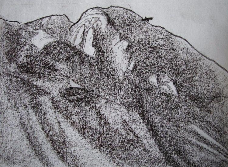 bird. Paper, sepia - drawing - eugeniakrutova | ello