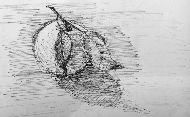 10 minute - ink,, sketch - mmeehan | ello