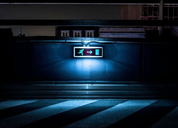 EXIT - light, nightshot, photo - elianbo | ello