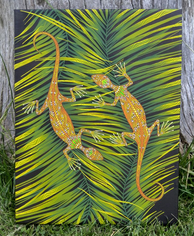▴◈ Salamandras ◈▴ canvas, tempe - natasha_sedyakina | ello
