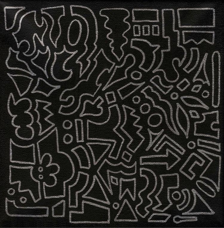 'Moonlight' 20 20cm canvas orig - bethcolecreative | ello