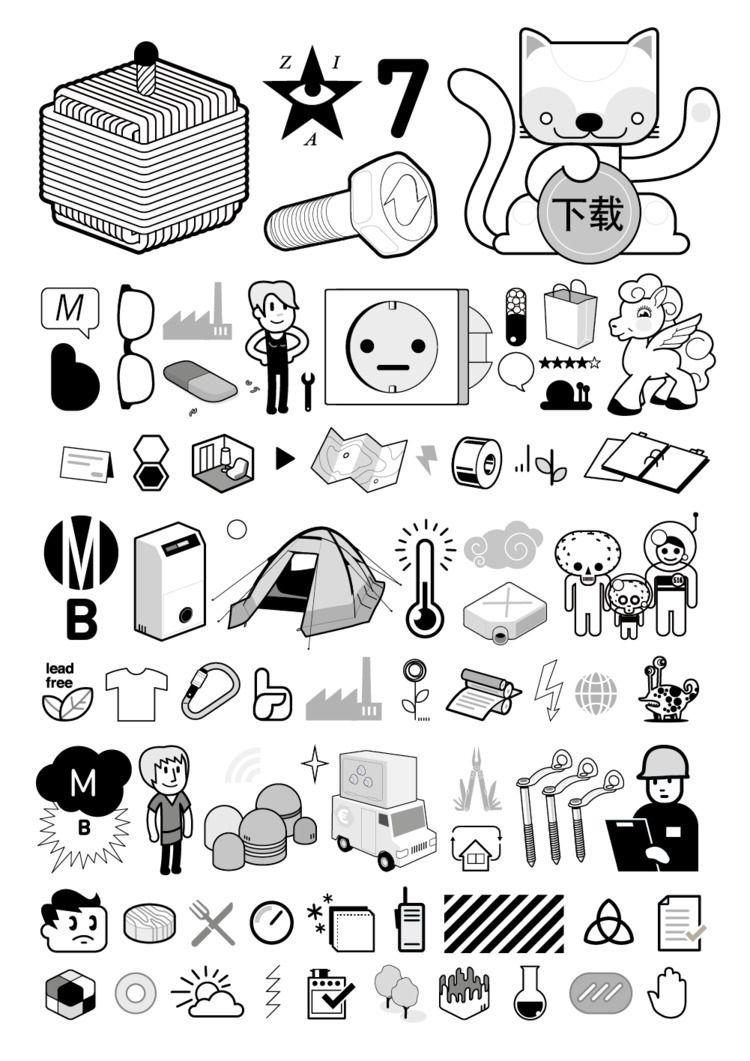 MB Icon Collection projects - happycat - martinbaaske   ello