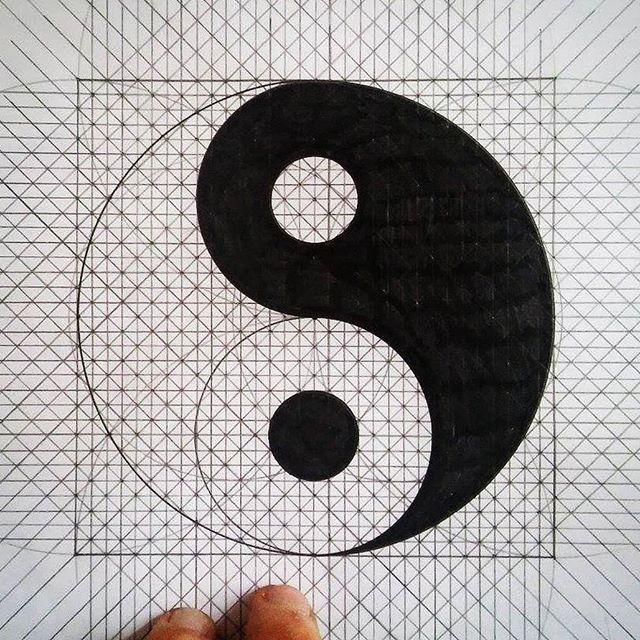 Geometrical yin yang design - tiago_hands | ello