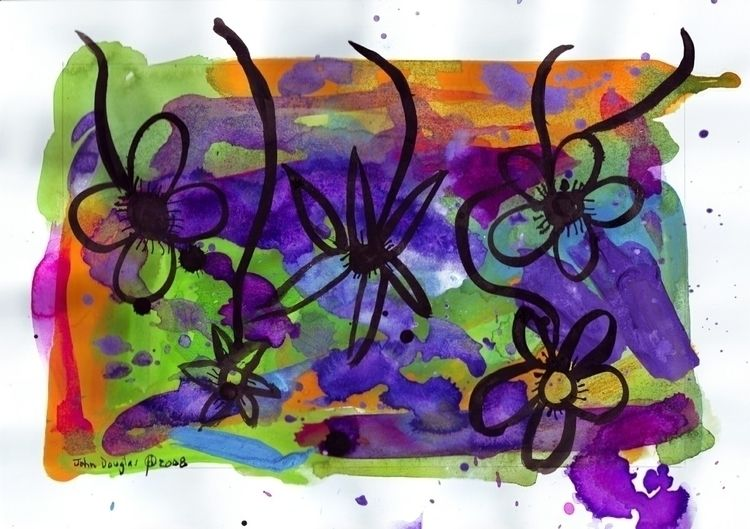 Midnight Garden cycle1 13 Ink g - johndouglasart | ello
