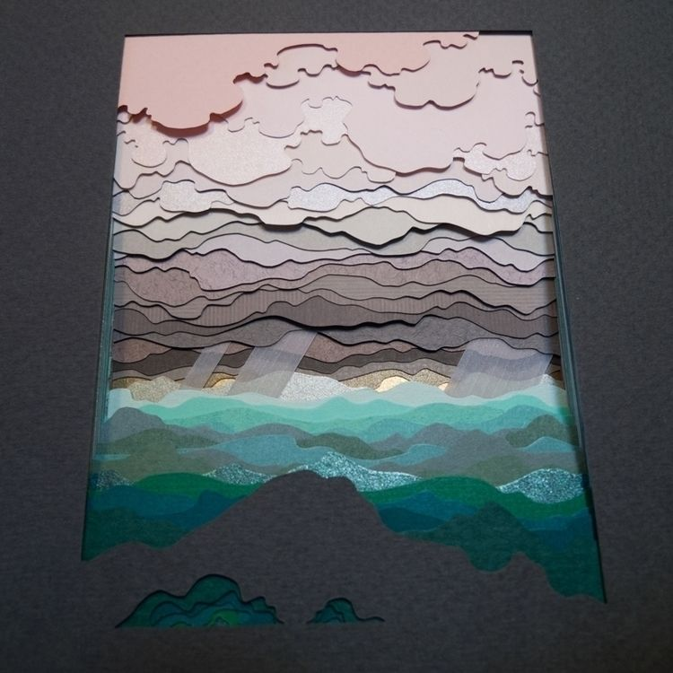 Waiting Rains 39 layers hand cu - hazelglass   ello