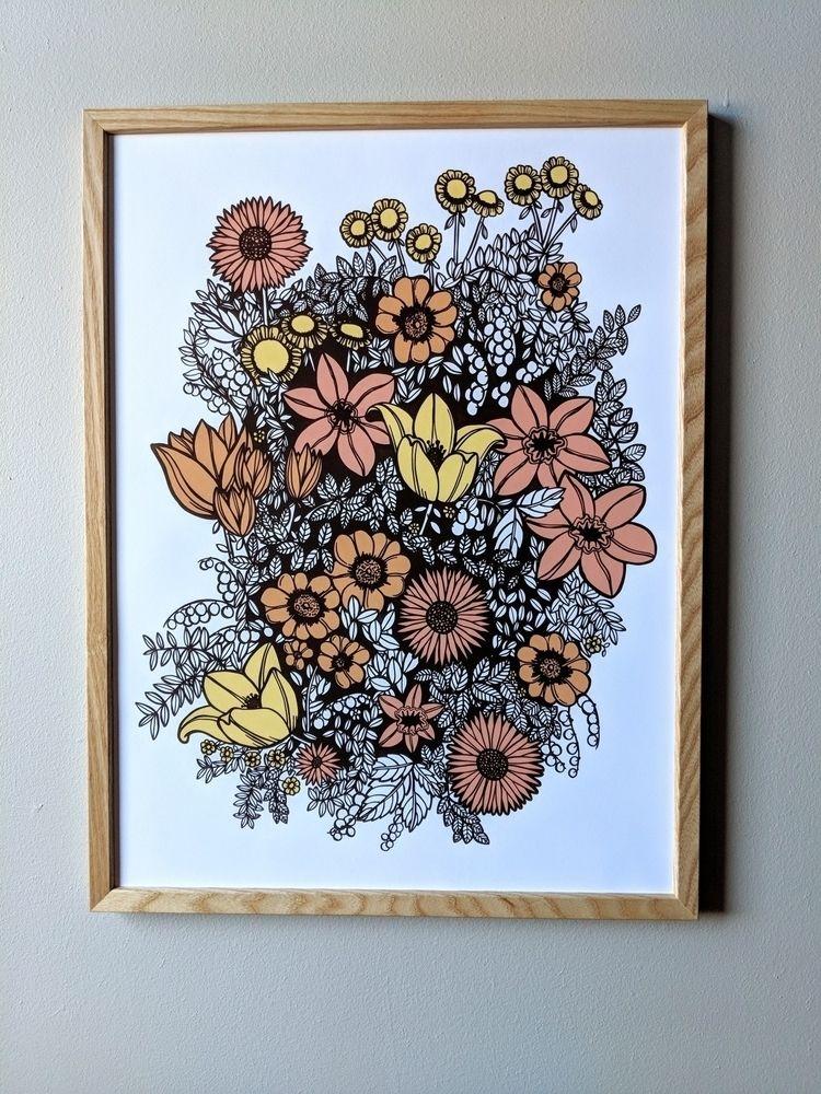 Overgrowth - 4 color screenprin - wearebrainstorm | ello