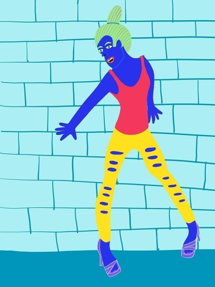 blue da ba dee daa - art, illustrator - cyncityart | ello