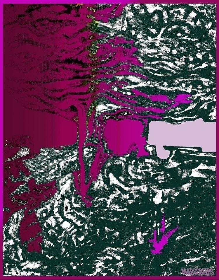 Focus II Messing digital art - pink - marscreeps | ello