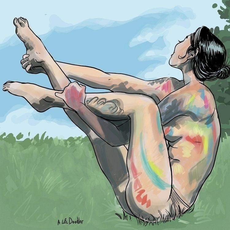 painted body. digital drawing p - alifedoodler | ello