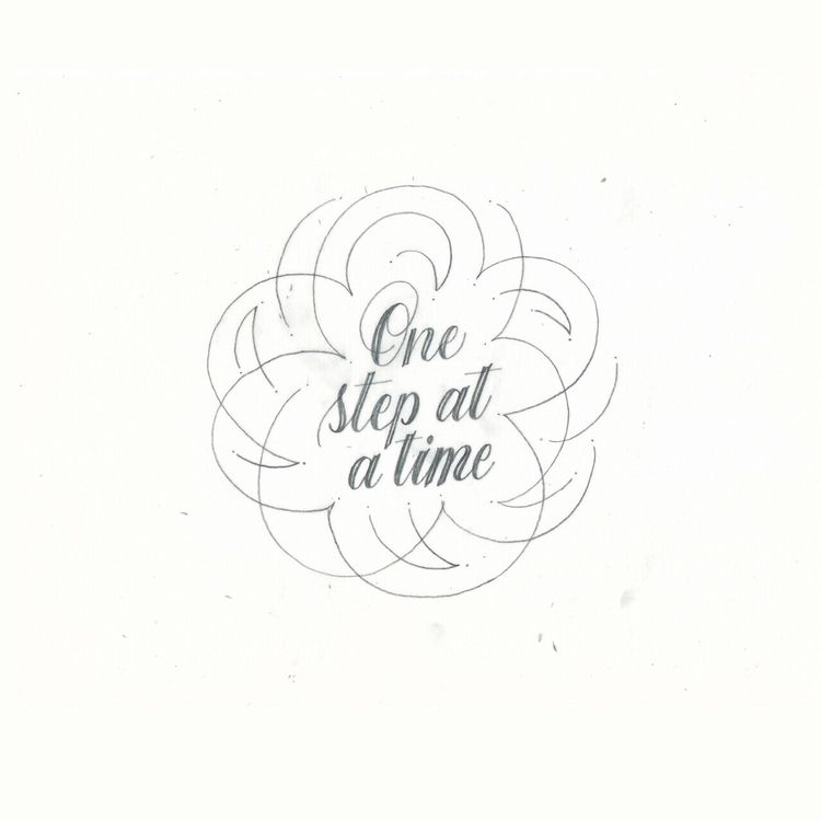 step time - type, lettering, design - rebeca-anaya | ello