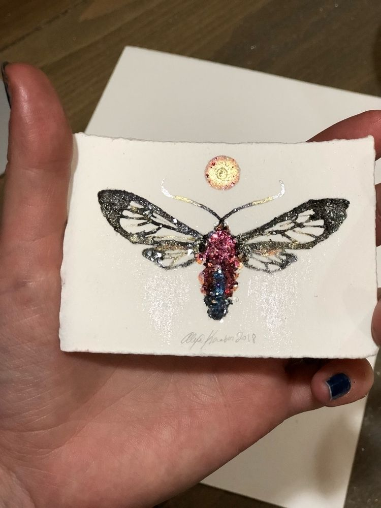 100 day project - painting, insect - alexakarabin | ello