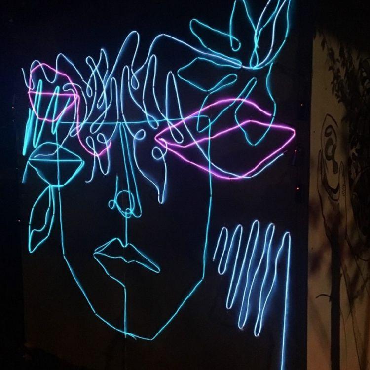 Scenes 'light painting' mural 8 - blflood | ello