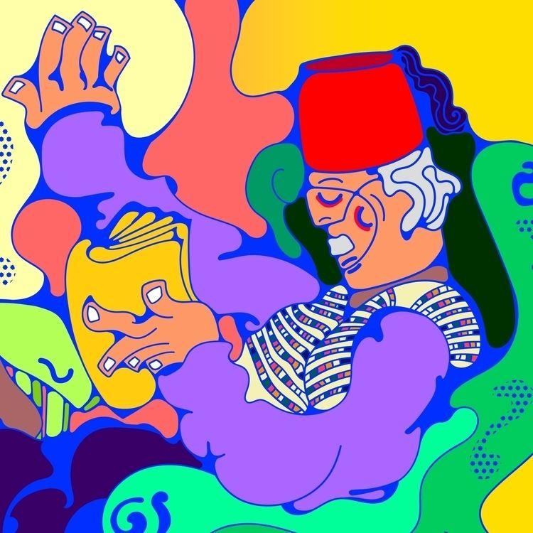 Story Teller - Illustration, DigitalArt - tameem | ello