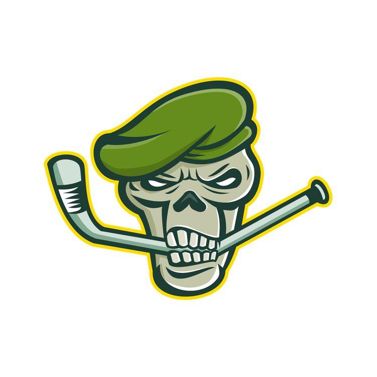 Green Beret Skull Ice Hockey Ma - patrimonio | ello
