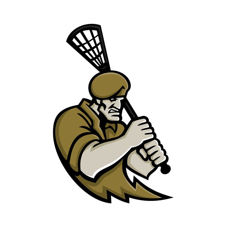Commando Lacrosse Mascot - illustration - patrimonio | ello