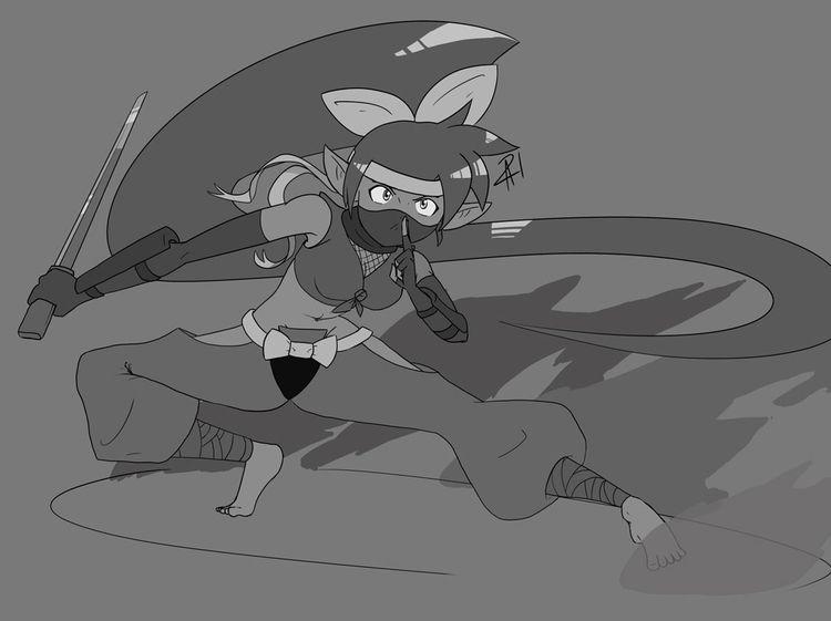 felt drawing Shantae Ninja cost - animana21 | ello