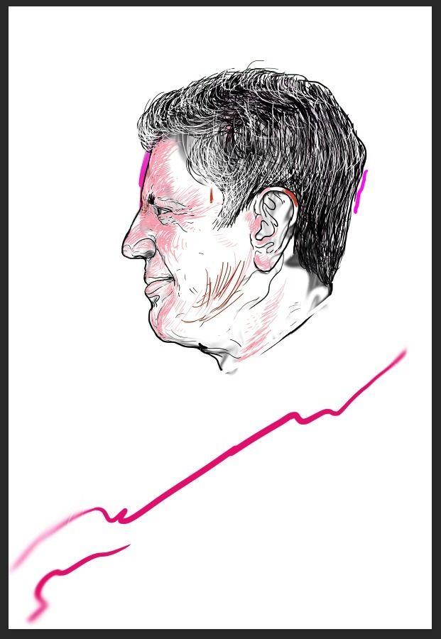 Bourdain, Digital, Art, Portrait - fj-gc | ello
