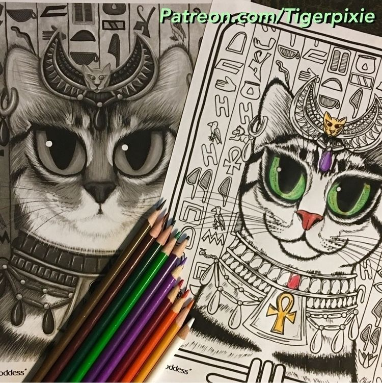 June Patreon Coloring Page! Bas - tigerpixie | ello