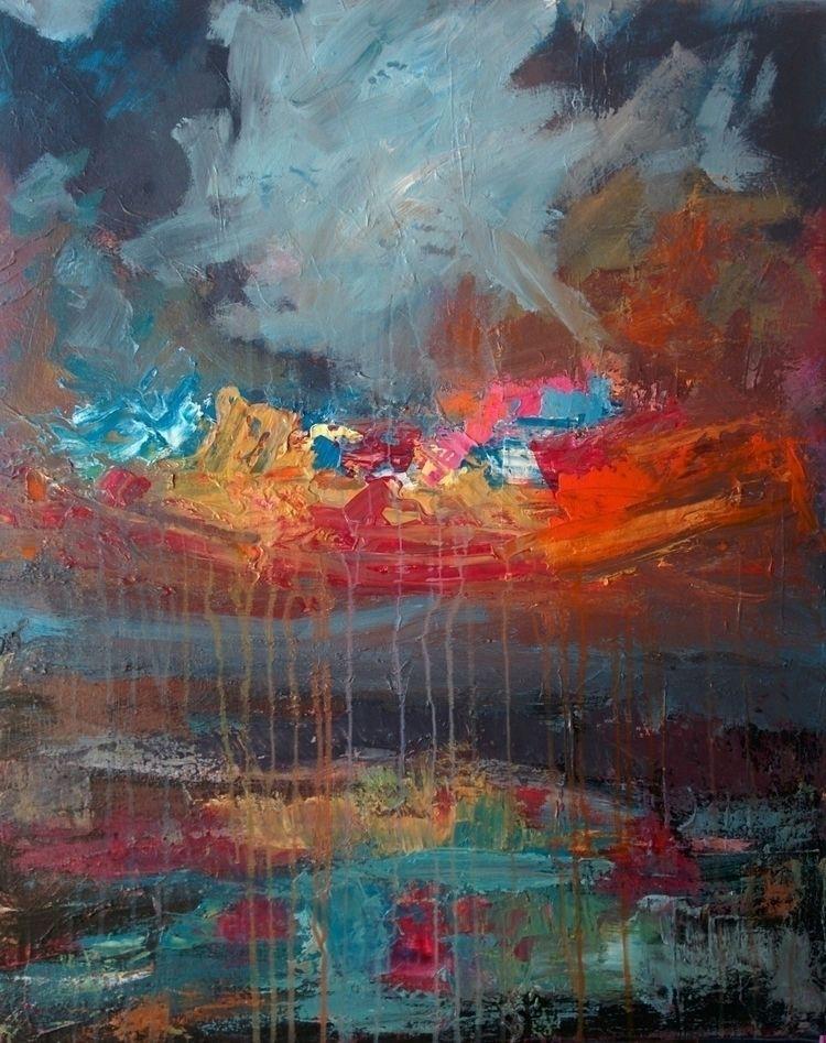 untitled 70*90cm - acrylics, canvas#landscape - jotzomakas | ello