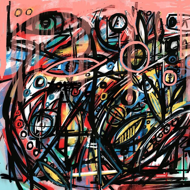 pheasant  - abstract, birds, eyeballs - catswilleatyou   ello