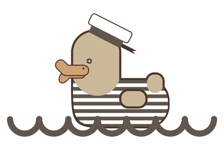 Vintage Sailor Duck, design Gra - grabatdot   ello