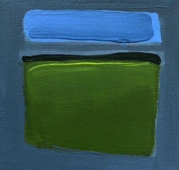"""4"" Landscape"" 4x4 acrylic/canv - jeffbessart | ello"