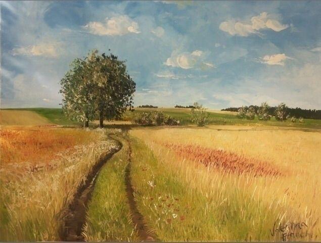 Aria di primavera - Oil canvas  - valentinafranchi92 | ello