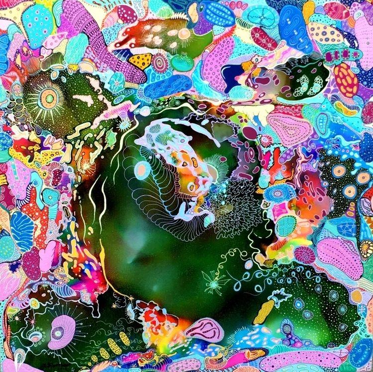 Liquid Face 2015 Acrylic,Japane - jsilverhoof | ello
