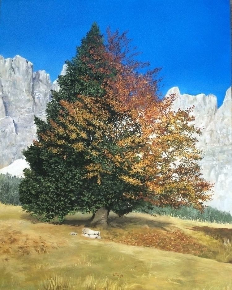 tree love, 60x40 oil canvas - trees - valentinafranchi92 | ello