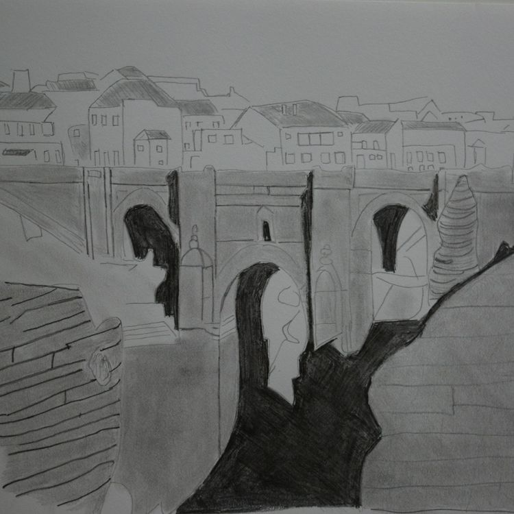 art, draw, drawing, ronda, spain - seanstaceyarts | ello