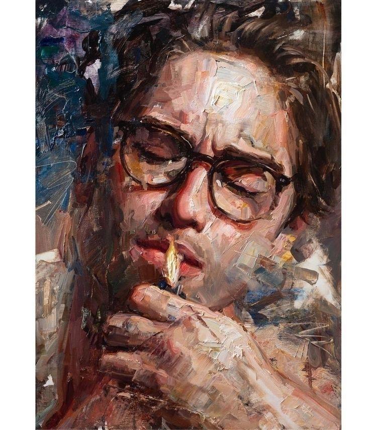 Painting Matt Talbert ・・・ givin - dulcemenendez | ello