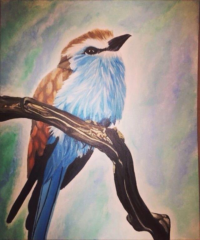 time painting bird:bird::eyes - kholden02   ello