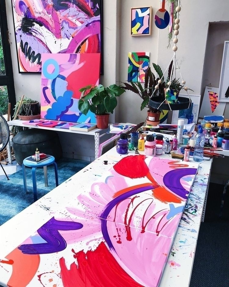 Studio visit! Progress shot tri - ninaminnebo | ello
